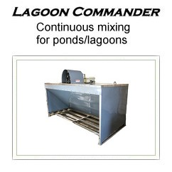 LAGOON COMMANDER Continuous mixing for ponds/lagoons